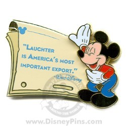 Disney Gold Card Pin - Quotes - Laughter is America's...