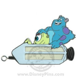 Disney Gold Card Pin - Space Mountain - Sulley and Mike Wazowski Pin