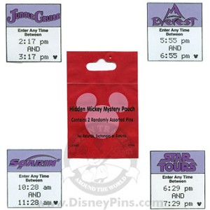 Disney Hidden Mickey Pin - Fastpass - 2 Random