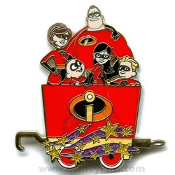 Disney Mystery Tin Pin - Character Train - The Incredibles