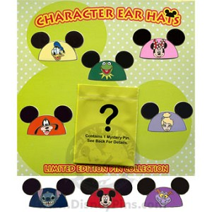Disney Mystery Pin Collection - Character Ear Hats - Complete Set