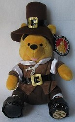 Disney Plush - Pooh Bear - Thanksgiving