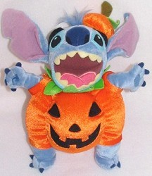 Disney Plush - Stitch - Not So Scary Halloween Party 2005 Pumpkin