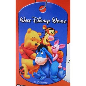 Disney Engraved ID Tag - Pooh and Friends