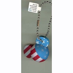 Disney Key Chain Ring - Mickey Mouse Ears - American Flag