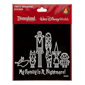 Disney Window Decal - My Family Is a Nightmare