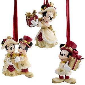 Disney Christmas Ornament Set - Victorian Minnie and ...