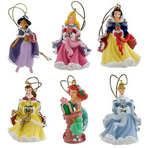 Disney Christmas Ornament Set - Mini Princess Holiday Ornaments