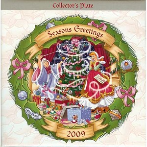 Disney Collectors Plate - Christmas Through The Years 2009 Cinderella