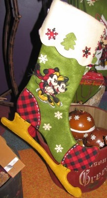 disney christmas stocking wilderness classic mickey and minnie mouse
