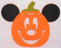 Disney Placemat Halloween Pumpkin Mickey Mouse Face