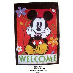 Disney Flag Banner - Mickey Mouse - Welcome