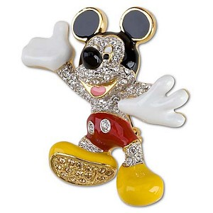 Disney Swarovski Pin - Mickey Mouse Brooch