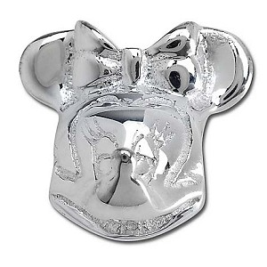 Disney Chamilia Charm - Sterling Silver Minnie Mouse Head