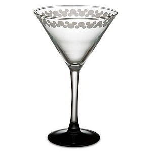 Disney Cocktail Glass - Etched Mickey Mouse - Martini