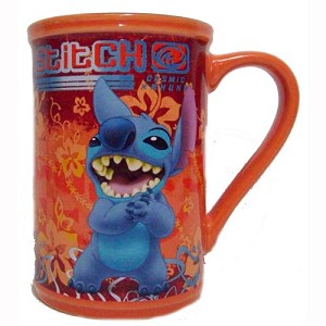 Disney Coffee Cup Mug - Stitch - Orange - Cosmic Kahuna