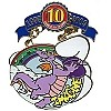 Disney Pin Trading 10th Anniversary Pin - Tribute - Figment