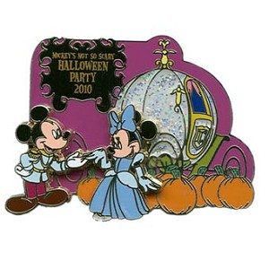 Disney Passholder Pin - Mickey's Not So Scary Halloween Party 2010