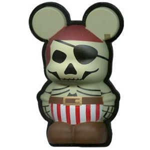 Disney Vinylmation Pin - 3D - Skeleton Pirate