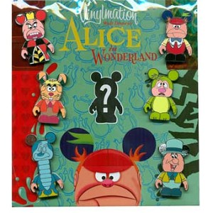 Disney Mystery Pin Set - Vinylmation Alice in Wonderland - 7 Pins