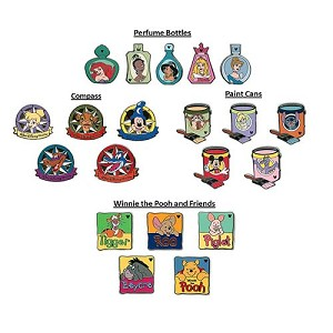 Disney Mystery Pin Set - 2012 Hidden Mickey Wave A - 2 Random