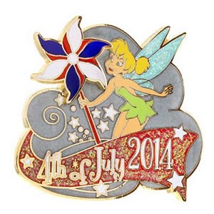 Disney Independence Day Pin - 2014 Tinker Bell