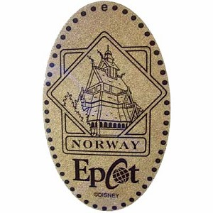 Disney Pressed Penny - Epcot - Norway Building
