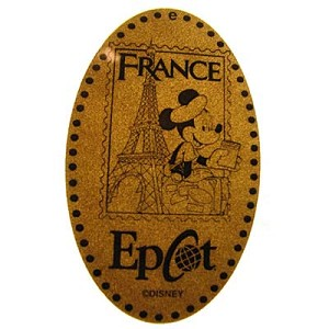 Disney Pressed Penny - Tourist Mickey in front of Eiffel Tower