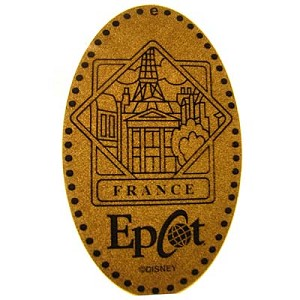 Disney Pressed Penny - France World Showcase