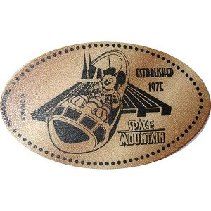 Disney Pressed Penny – Space Mountain ESTABLISHED 1975