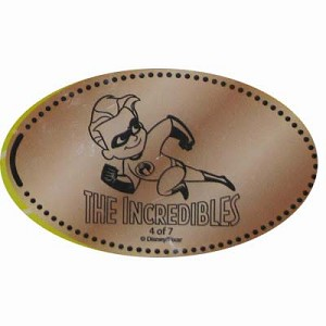 Disney Pressed Penny - THE INCREDIBLES - Dash
