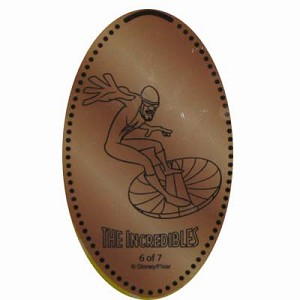 Disney Pressed Penny - THE INCREDIBLES - Frozone
