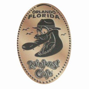 Disney Pressed Penny - Rainforest Cafe – Face of Nile the crocodile