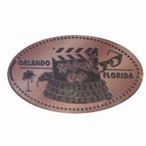 Disney Pressed Penny - Rainforest Cafe – Movie clacker
