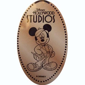 Disney Pressed Penny - Hollywood Studios Cinema - Producer Mickey