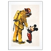 Disney Artist Print - Charles Boyer - Fireman and Mickey Mouse 14x18