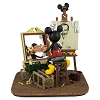 Disney Mickey Figurine - Self Portrait - Mickey Mouse and Walt Disney