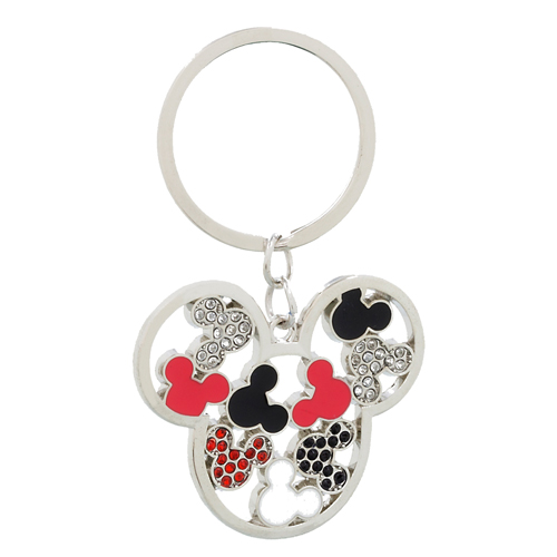 Disney Key Chain Ring - Mickey Icons - Red and Black