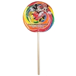 Disney Sucker Lollipop - Rainbow Swirl Candy - Mickey Mouse Character Pop - 2 oz
