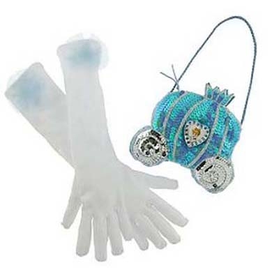 Disney Costume - Princess Gloves and Purse Set - Cinderella