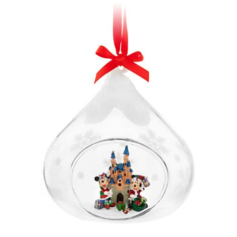 Disney Holiday Ornament - Santa Mickey and Minnie at the Castle