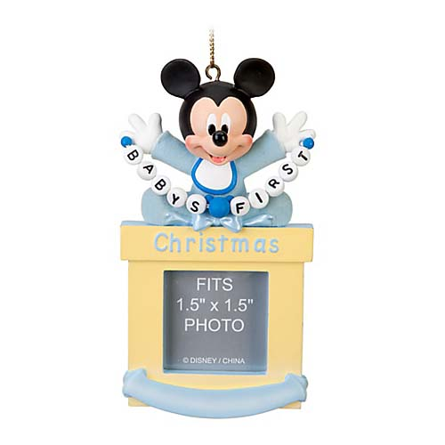 disney christmas ornament frame mickey mouse babys first christmas