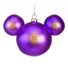 Disney Christmas Ornament - Mickey Ears Large - Bohemian Purple Burst