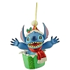 Disney Christmas Figurine Ornament - Santa Stitch Present