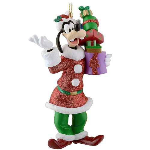 Disney Christmas Figurine Ornament - Santa Goofy with Towering Gifts
