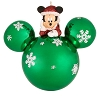 Disney Christmas Ornament - Santa Mickey on Green Snowflake Ornament