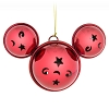 Disney Christmas Ornament - Mickey Ears Jingle Bells - Red