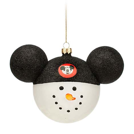 disney christmas ornament mickey ears large snowman