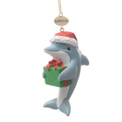 SeaWorld Christmas Ornament - Resin Dolphin