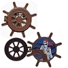 Disney Pirates Pin - Pirates of the Caribbean - Skeleton at Wheel